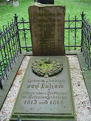 Ludwig Adolf Wilhelm von Lützow - His grave in the old garrison cemetery in Berlin