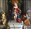 Garofalo, madonna col bambino in trono, angeli e santi, 1533, 02.jpg