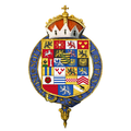 Gartered coat of arms of Ernest I, Duke of Saxe-Coburg and Gotha, KG.png