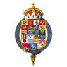 Gartered coat of arms of Ernest I, Duke of Saxe-Coburg and Gotha, KG.png