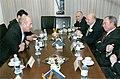 Gary Ackerman, Michael Bloomberg, and Ray Kelly meet with Ehud Olmert.jpg