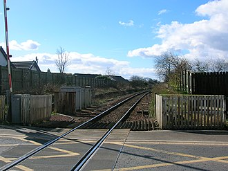 Gatehead railway station - The remains of the station platform in early 2007