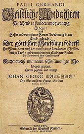 Titelblatt der Geistlichen Andachten, 1667 (Quelle: Wikimedia)