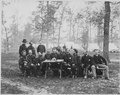 Gen. George Thomas and a group of officers at a council of war near Ringgold, Georgia, 05-05-1864 - NARA - 519439.tif