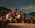 George Caleb Bingham - In a Quandary, or Mississippi Raftsmen at Cards.jpg