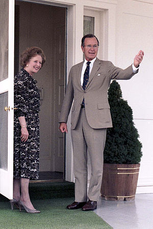 Prime Minister Margaret Thatcher and Vice Pres...