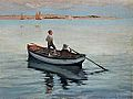 George Percy Jacomb-Hood - Two Boys in a Boat (1887).jpg