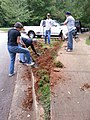 Georgia Native Plant Society planting butterfly garden in Heritage Park, Mableton, Cobb County, Sept 2015 05.jpg