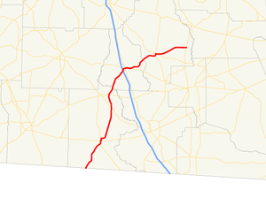 Georgia State Route 76 - Image: Georgia state route 76 map