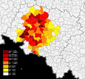 German minority in Poland - German minority in Upper Silesia: Opole Voivodeship (west) and Silesian Voivodeship (east).