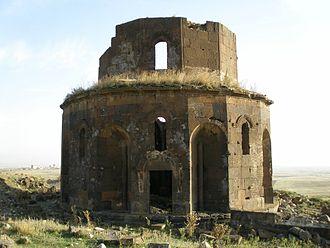 Gharghavank - The ruins of Gharghavank on the hillside.