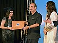 Ghulam Nabi Azad presenting the certificate to a student of Afghanistan, during the 12th Convocation of VLCC Institute of Beauty and Nutrition, in New Delhi on July 12, 2013.jpg