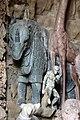 Giardino di castello, grotta degli animali o del diluvio, vasca di sx 02 rinoceronte e scimmia di antonio lorenzi, francesco ferrucci del tadda e altri, 1555-57 ca.jpg
