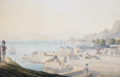 Gibraltar from the Straits; and The Black Watch on Parade at Gibraltar 1.png