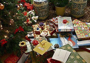 Gift - Gifts under a Christmas tree