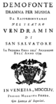 Gioacchino Cocchi - Demofoonte - titlepage of the libretto - Venice 1754.png