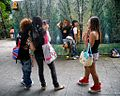 Girls do have fun dressing up at the weekend in the park (8068924586).jpg