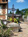 Glaignes (60), croix au centre du village, rue des Tonneliers (RD 116).jpg