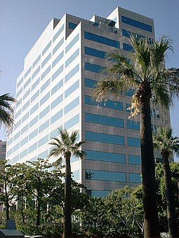 801 North Brand, one of Glendale's many modern skyscrapers: Companies such as Nestle, NexusLab, Great West Life, Citi, Unum, and Cigna have offices downtown. GlendaleCA 801NorthBrand.jpg