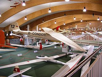 Wasserkuppe - The new exhibit hall in the Deutsches Segelflugmuseum (German Sailplane Museum).
