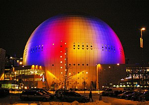 Ericsson Globe - The Ericsson Globe at night (2007)