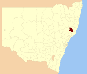 Gloucester Shire - Location in New South Wales