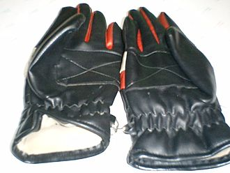 Glove prints - Lined leather gloves may leave a print that is as unique as a human fingerprint. When discovered by authorities, latent fingerprints may also be recovered from the inside of these gloves.