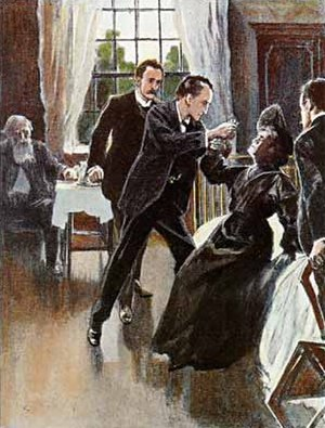 The Adventure of the Golden Pince-Nez - Anna committing suicide.