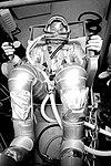 Gordon Cooper undergoes suit pressurization tests.jpg