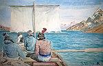 Grønlændere på sejltur, 1879 (8472508529).jpg
