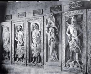 Judith of Hohenstaufen - Grave stones of the Thuringian landgraves in Reinhardsbrunn, 1891