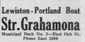 Grahamona Lewiston service advertisement 1919.png