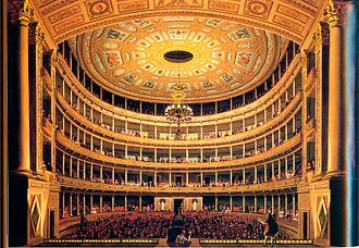 Gran Teatro Nacional (Mexico) - Pedro Gualdi: Interior of the Great Theatre of Santa Anna (later Great National Theatre of Mexico). Nineteenth century.