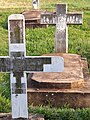 Graves with Victim of 1994 Genocide - Catholic Cathedral - Huye (Butare) - Rwanda (9009579800).jpg