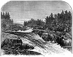 Great Falls, Saco River in 1869