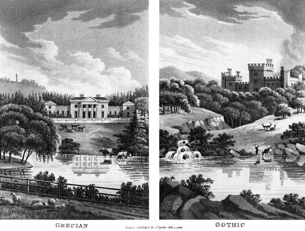 Grecian-Gothic neoclassical-romantic style-contrast 1816-Repton.jpg