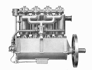 Green D.4 - Image: Green's 4 cylinder aerial engine (Rankin Kennedy, Modern Engines, Vol III)