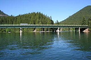 Detroit Lake reservoir in Oregon, United States