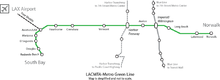 A Green Line map.
