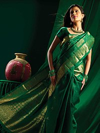 Green brocade silk saree.jpg