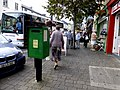 Green post box, Portlaoise (geograph 4176991).jpg