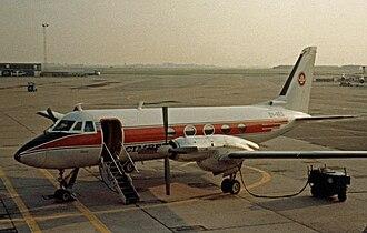 Grumman Gulfstream I - Gulfstream I of Cimber Air operating a scheduled service from Copenhagen Airport in 1981