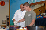 Guest Chef Andre Halson Prepares a Pecan Butterscotch During a Food Demonstration at Naval Station Guantanamo Bay DVIDS228146.jpg