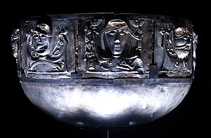 Gundestrup cauldron - Another view; from left, exterior plates b, f, a