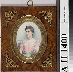Miniature Portrait of Baroness Delort de Gléon the Younger