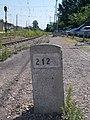 Gyártelep HÉV station, Segment 212 and railway signal, 2019 Szigetszentmiklós.jpg