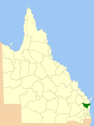 Gympie Region - Location within Queensland