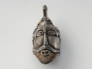 Pendant of silver, Viking age, Sweden.