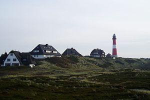 Hörnum - Image: Hörnum mit Leuchtturm