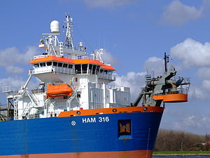 HAM 316 IMO 9160449 p2 at Nordsea channel, Port of Amsterdam, Holland.JPG